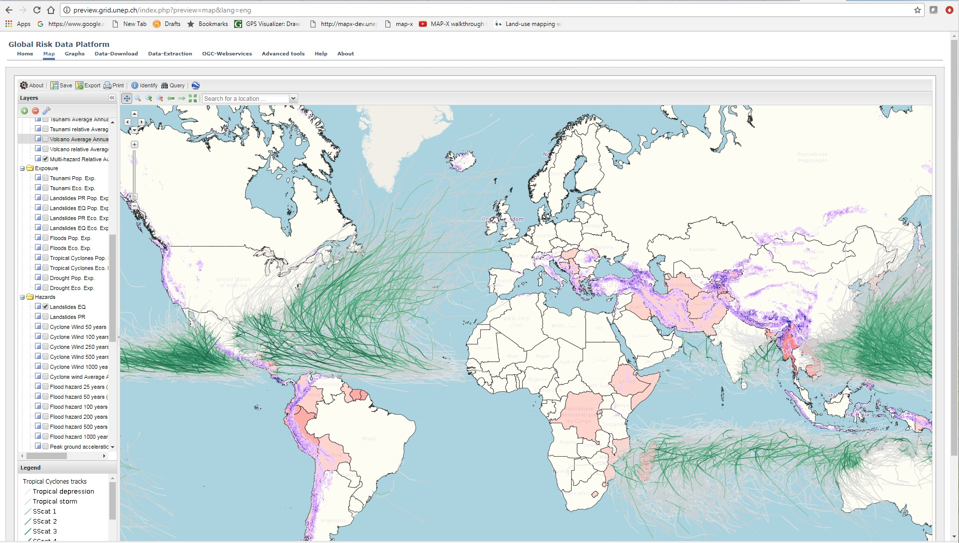Global Risk Data Platform Screenshot