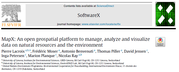 Screenshot of SoftwareX journal