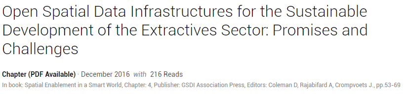 Open Spatial Data Infrastructure Chapter